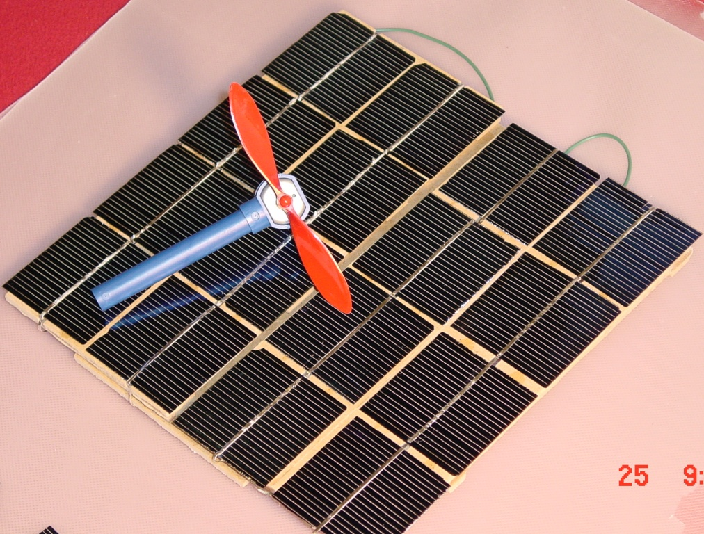 solar cells and windmill